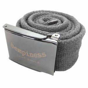 Hempiness Sustainable Hemp Buckle Belts - Gun Metal Grey