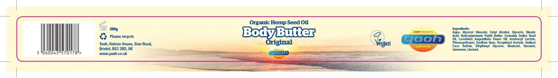 Yaoh Hemp Seed Oil Body Butter
