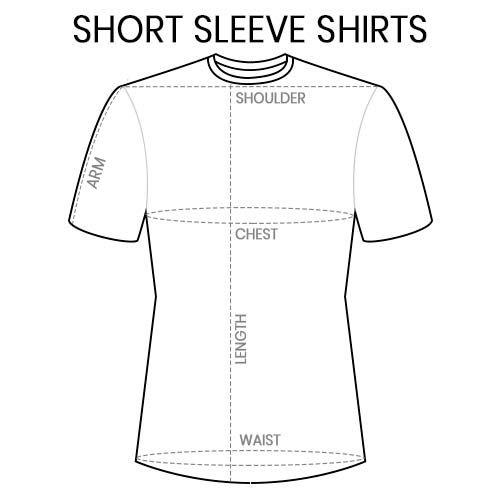 Short Sleeve T-Shirts Measurement Guide