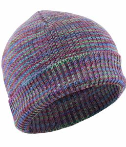 Organic 100% Hemp Rainbow Knit Beanie Hats - Muted