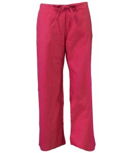 Hempiness Organic Hemp Drawstring Pants - Tulip Red