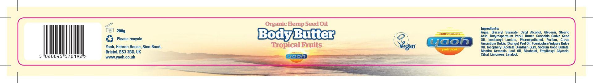 Yaoh Body Butter Tropical Fruits