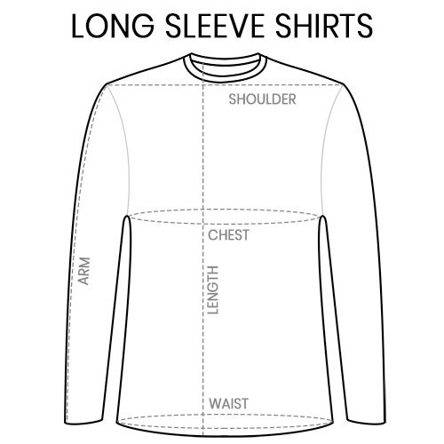 Sustainable Long Sleeve T-Shirt Size Chart